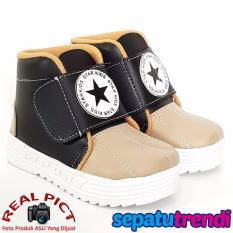 TrendiShoes Sepatu Boot Anak Laki-Laki Star Kid STARDPN - Black Beige