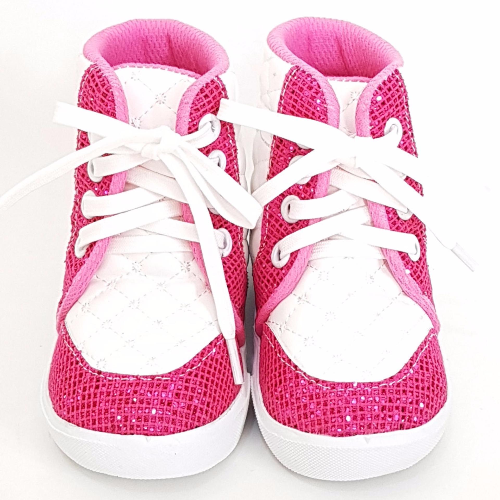 Harga Termurah Trendishoes Sepatu Boot Anak Perempuan Tali Kece Tlce Putihfuchsia