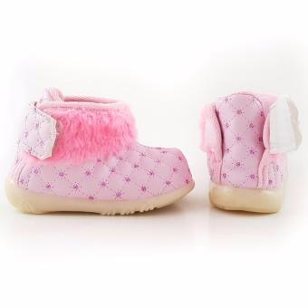 Thumbs TrendiShoes Sepatu Boot Bayi Anak Perempuan Variasi Bulu TTWJ