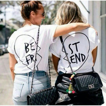Tumblr Tee / T-Shirt / Kaos Wanita Bestfriend Couple - Putih