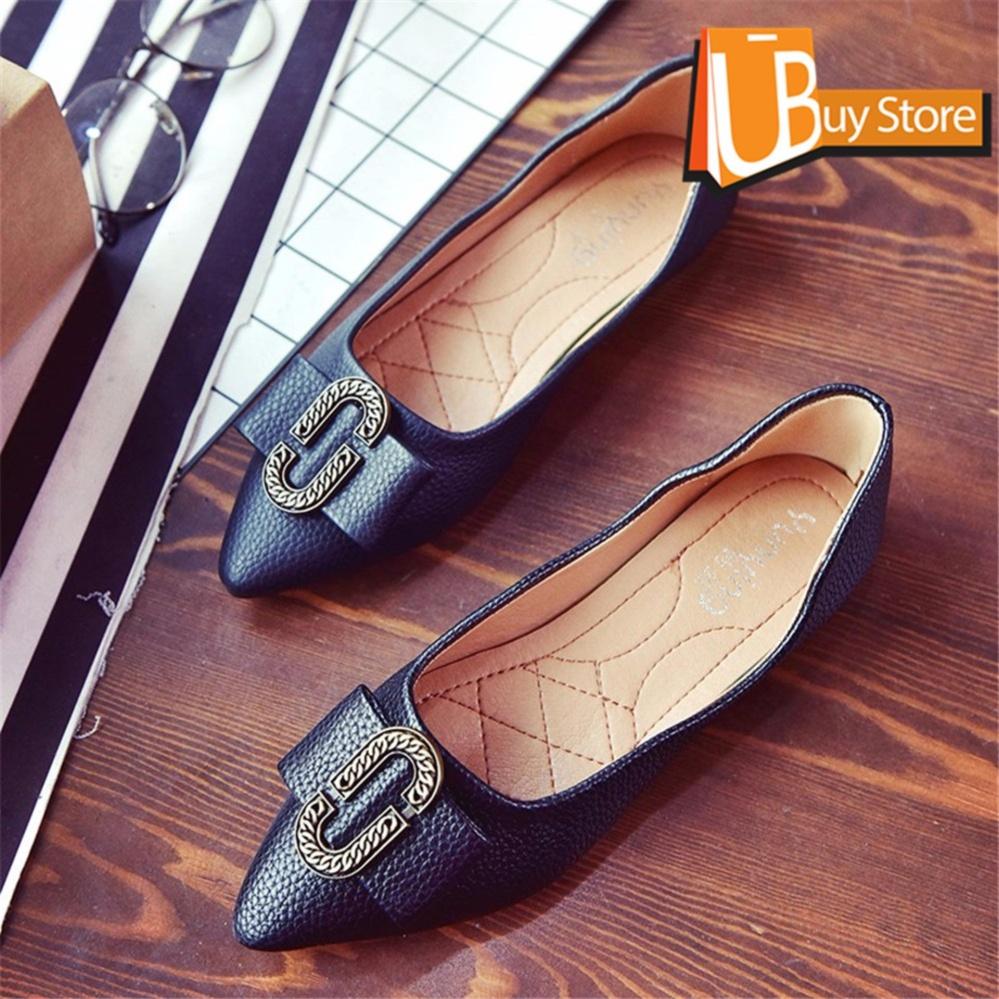 ... Musim Panas Baru Mulut Ikan. Source ... Ubuy Wanita Korea Elegan Lady Fashion Menunjuk Bisnis Sepatu bertumit datar Menunjuk Sepatu .