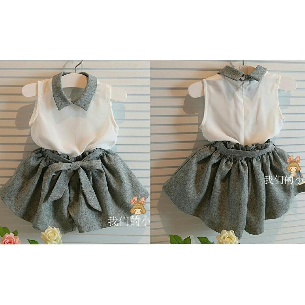 UC Baju Dress Anak Strip Polos 3 - 5 tahun / Baju Kodok / Baju dan Rok Polos / Trendy Lucu Bagus Kiddy (ts ddyki) NR - Abu