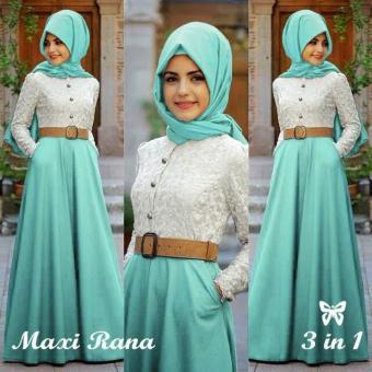 Home Pakaian Muslimah Wanita Meliana Maxi Mocca UC Baju Gamis Syari Syar i .