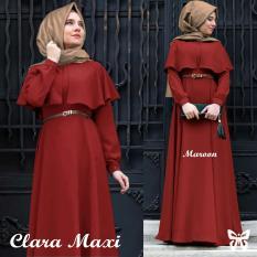 UC [Best Seller] Baju Maxi Dress GAMIS Kirana / Hijab Muslim / Muslim Syari Syar'i Hijab Clara / Busana Muslimah / Kebaya Modern (Aracl)  SS - Maroon - A0007 D2C