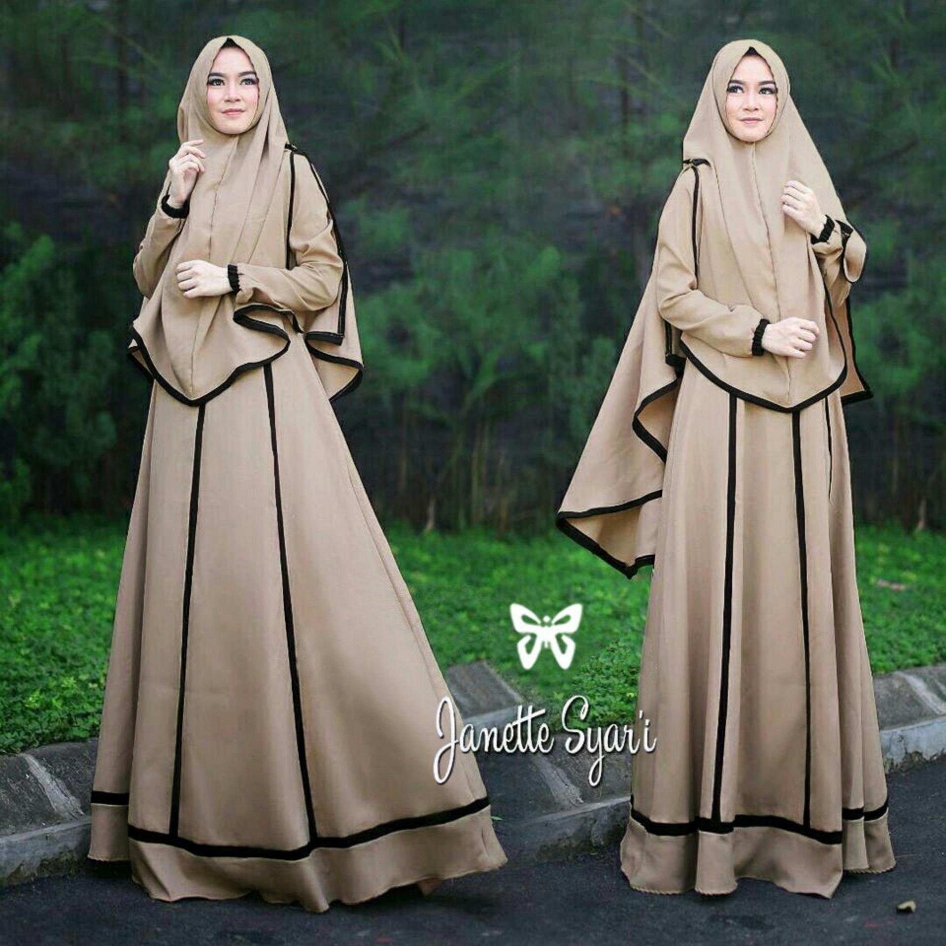 Beli Baju Gamis Wanita Jumbo Polos L Xxxl Bahan Kaos Import 9621 Syari Muslim Modern Gina Fashionable Uc Dress Imelda Fashion Maxi