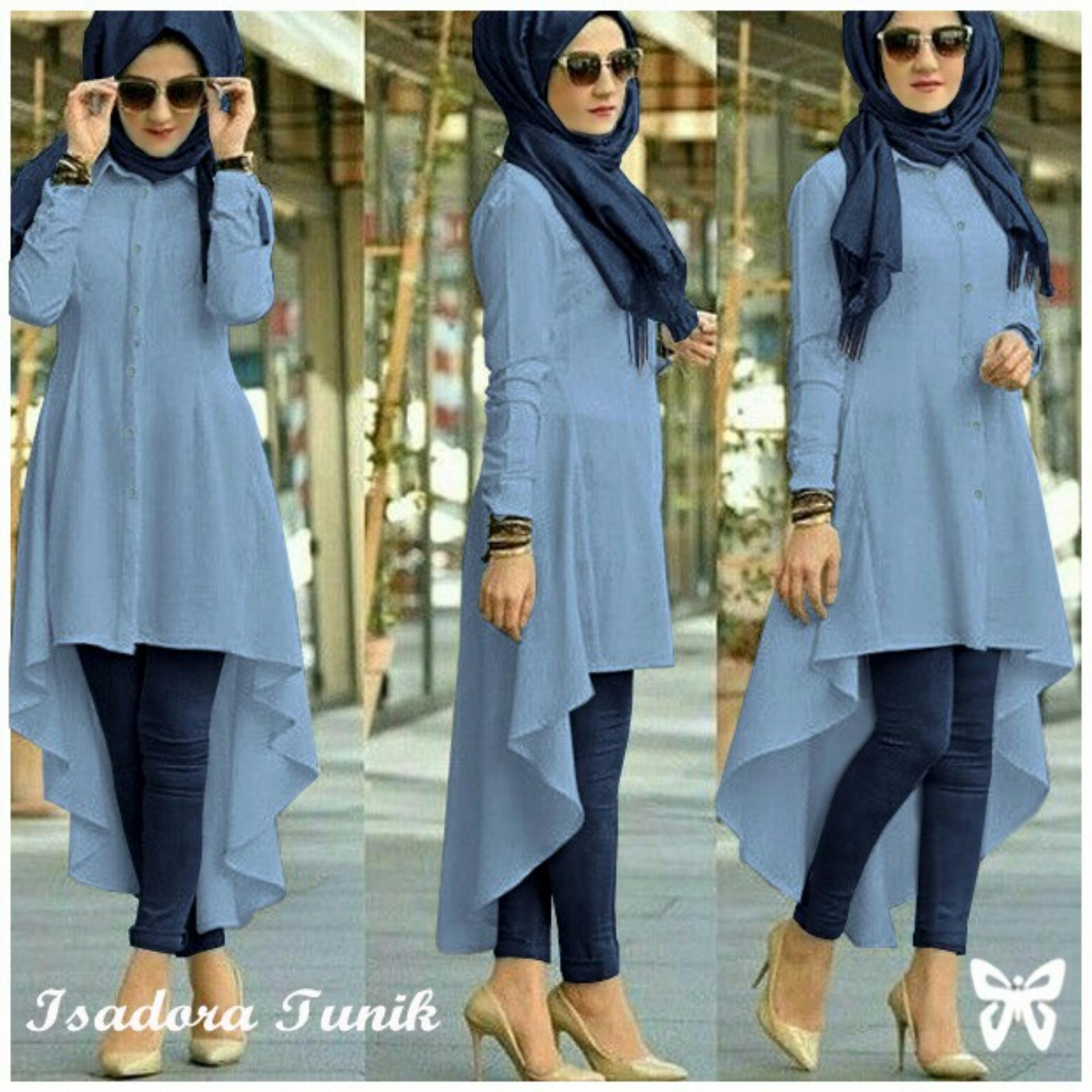 Flash Sale UC Terusan Muslim Isabel / Jumpsuit / Baju Muslim / Tunik Muslim Panjang /