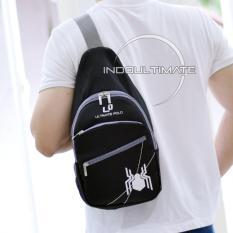 ULTIMATE POLO WATERPROOF Tas Selempang Pria/Tas punggung Slempang/Sling Bag Unisex TB-02 - Spider Black