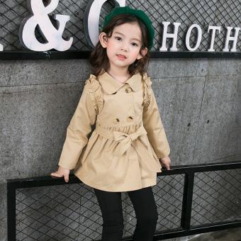 ... Harga baru Versi Korea dari bagian panjang baru kecil anak gadis jaket Gelap khaki Bandingkan Simpan