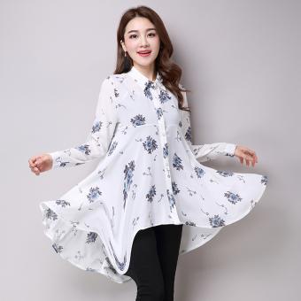 Lengan longgar tipis gaun panjang (Putih). Source · Online murah .