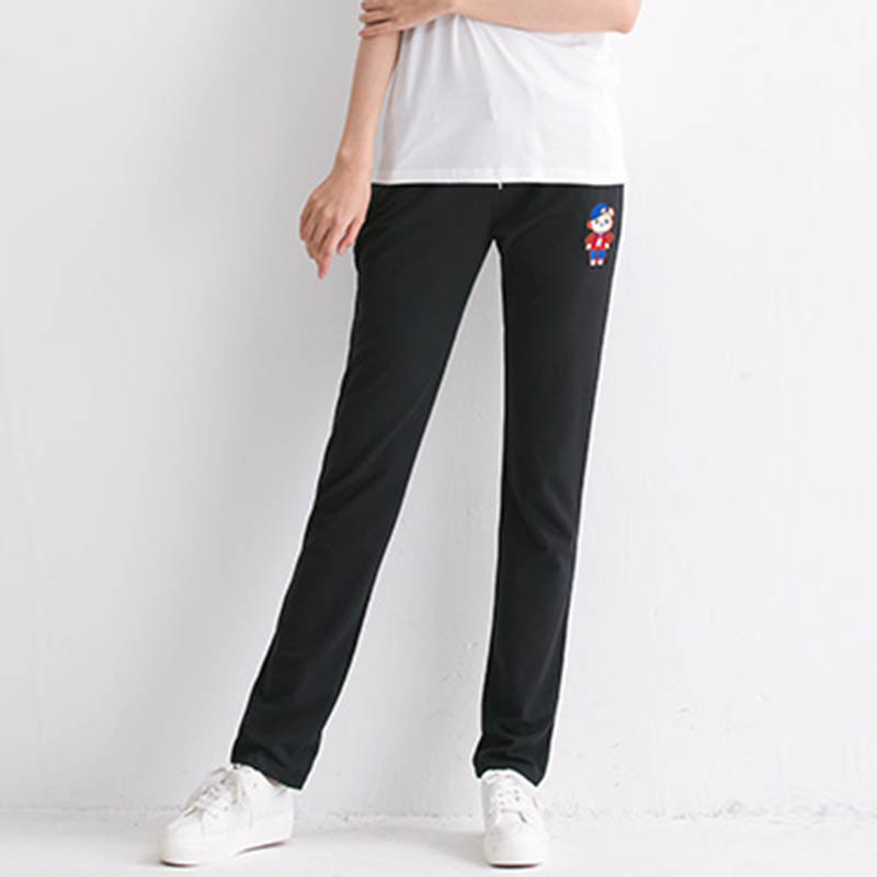 Versi Korea dari kaki tipis lurus celana Wei tipis celana bagian olahraga ( Hitam)