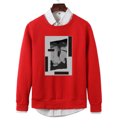 Versi Korea dari lindung nilai leher bulat lengan panjang t-shirt pria sweater (Terry