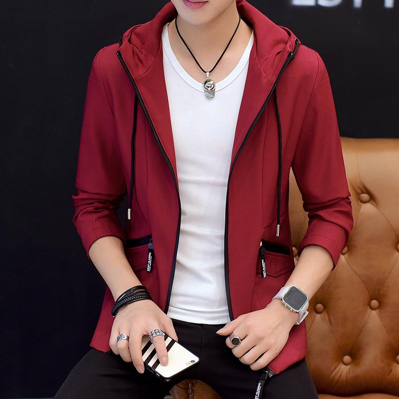 ... Baru Lengan Source · Flash Sale Versi Korea dari musim gugur jaket pria Slim lapisan tipis Warna solid Model