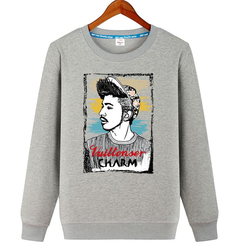 Cheap online Versi Korea dari musim gugur lengan panjang pria sweater remaja bottoming sweater (Yan nilai Pengawal (bagian tipis) Gray)