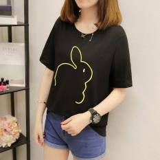 Versi Korea dari perempuan longgar signifikan penuh kasih kemeja musim panas lengan pendek t-shirt
