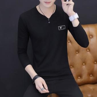 lengan panjang kemeja bermotif bunga kecil Biru Source Gambar Tide merek Korea laki . Source · Gambar Versi Korea dari pria Slim v neck sweater t shirt ...
