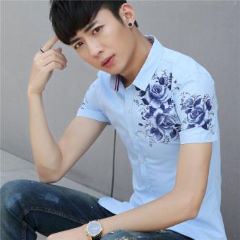 Putih Dan Biru. Source · Terbaik Murah Versi Korea muda lengan pendek .
