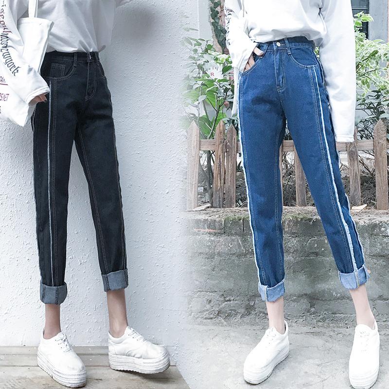 Harga Penawaran Versi Korea Perempuan Musim Semi Baru Celana Jeans