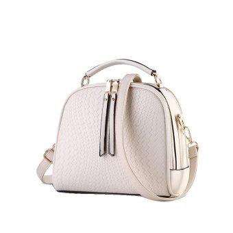 Vicria Tas Branded Wanita - Women Korean Elegant Bag Style High Quality PU Leather - Putih