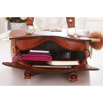 Vicria Tas Import Wanita 2in1 High Quality PU Leather Korean Elegant Bag  Style . c7e1bba17a