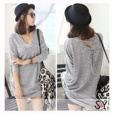 [vlyapriskila] Jumbo Big Size Blouse Brie Sy - Grey