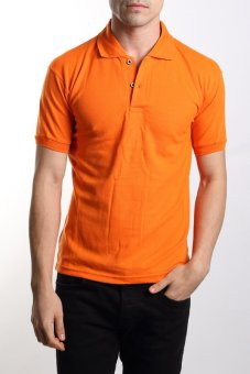 VM - Kaos polo shirt polos orange pendek - simple short polo shirt