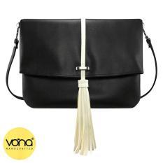 VONA Ferris (Hitam) - Tas Clutch Sling Tote Tassel Rumbai Bag Selempang Wanita Kulit Sintetis Totebag Best Seller Slempang Casual Trendy Fashion Korean Style