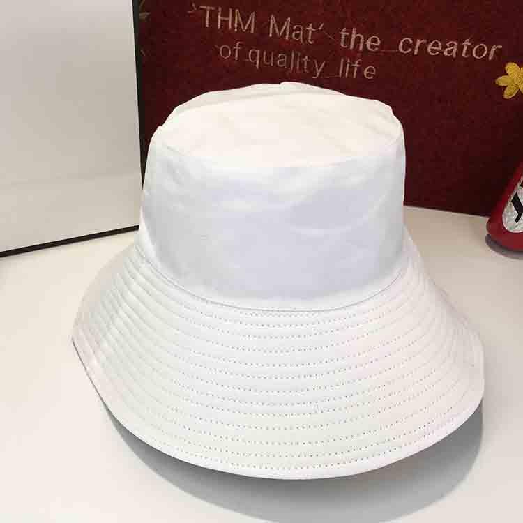 warna solid laki-laki visor topi matahari topi nelayan topi topi (Putih dua sisi