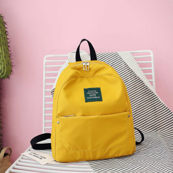 Warna solid Mini tas bahu (Kuning)