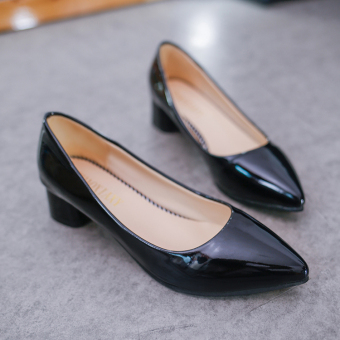 Online murah Wild female pointed professional shoes Shoes (158 hitam) Pelacakan Harga