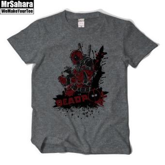 Online murah Wolverine baru film remaja lengan pendek t-shirt (Abu-abu gelap) eShop Checker