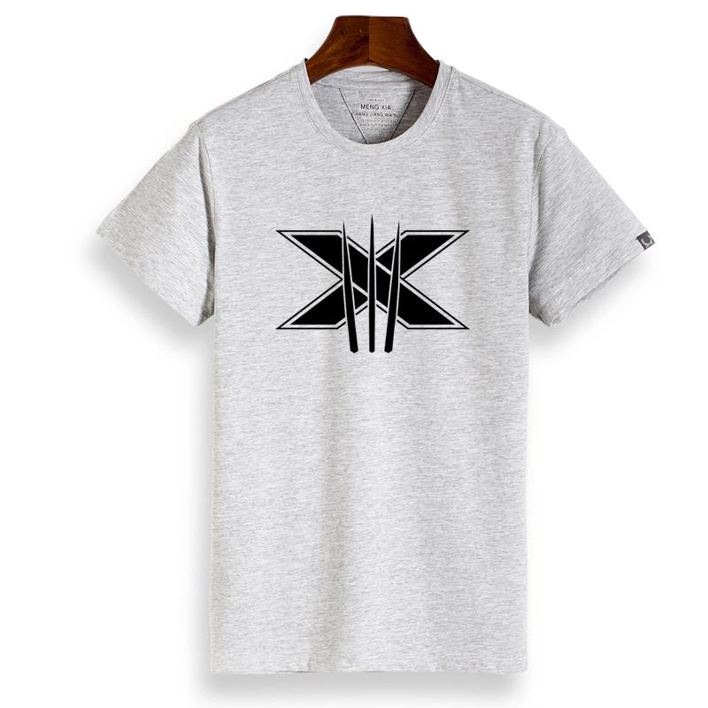 Wolverine Film Zhou Bian t-shirt (Abu-abu Wolverine)