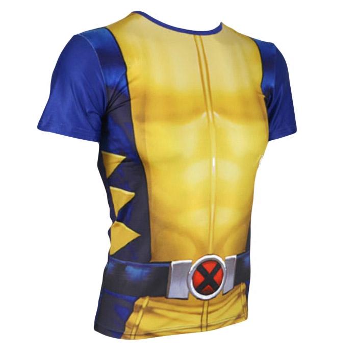 Shopping Comparison Wolverine kasual ketat cepat kering olahraga t-shirt (Kuning)
