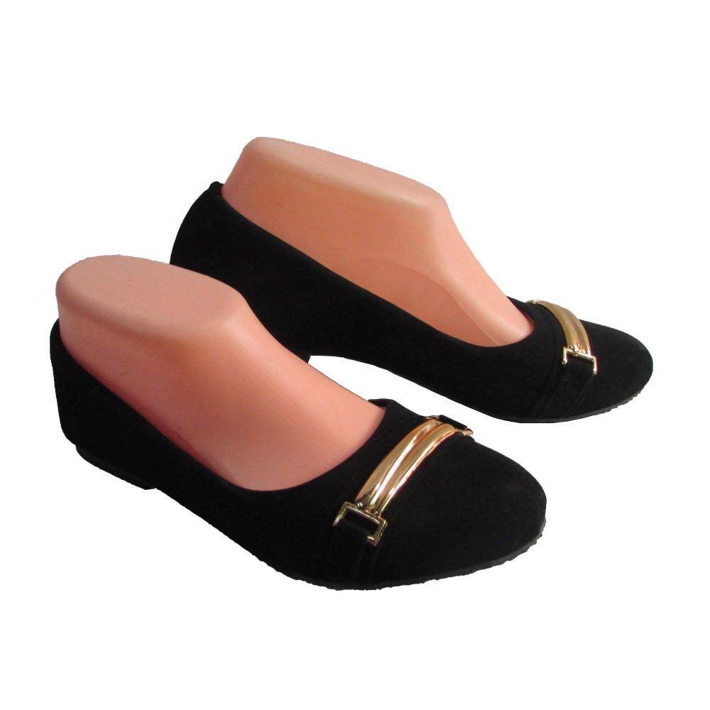 Woman Choice Flat Shoes Develop 02 - Sepatu Balet - Hitam .