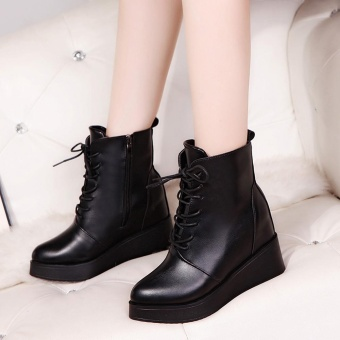 Women Sexy Platform Boots Fashion Punk Square Ankle Boots Black For Women Shoes - intl - 3