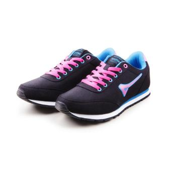 Women Teaberry Hitam Biru Running Shoes - 2