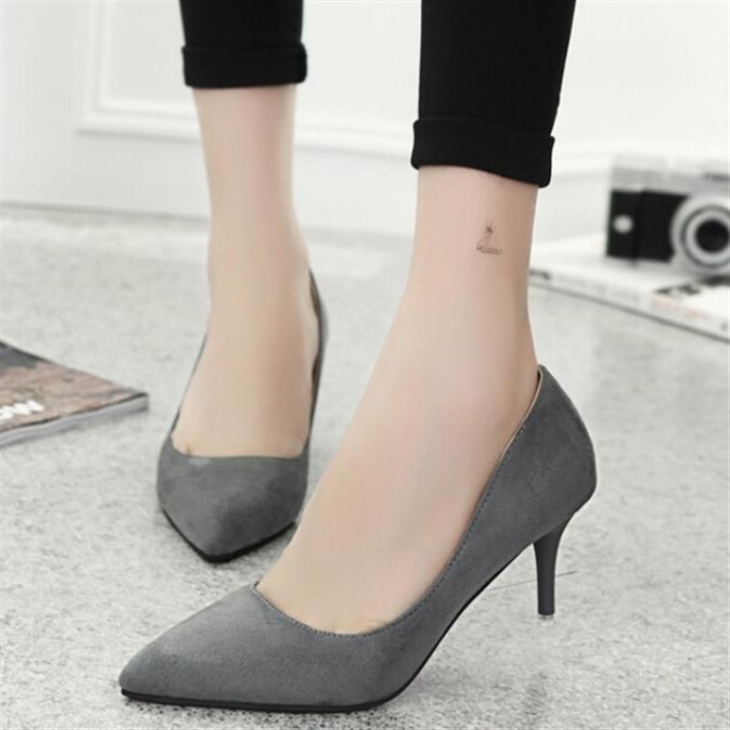 Ubuy Fashion Musim Panas Wanita Sepatu Partai Pesta Kencan TinggiMenunjuk Sepatu  Kulit Formal Heavy A- a694ed8cdb