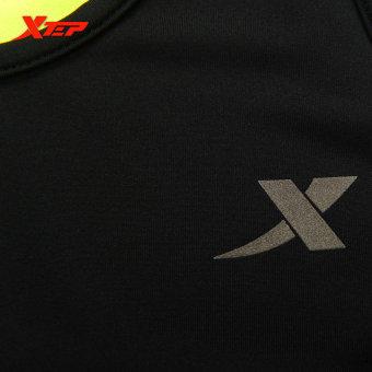 XTEP Women Running Fitness Sleeveless Vest Summer Style Yoga Shirts Top Quick-Drying Female Women Gym Sport Shirt (Black) - intl - 4