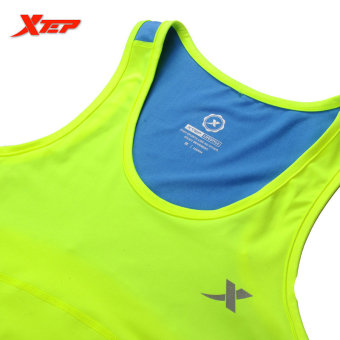 XTEP Women Running Fitness Sleeveless Vest Summer Style Yoga Shirts Top Quick-Drying Female Women Gym Sport Shirt (Green) - intl - 3