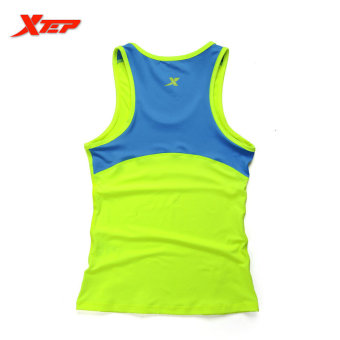 XTEP Women Running Fitness Sleeveless Vest Summer Style Yoga Shirts Top Quick-Drying Female Women Gym Sport Shirt (Green) - intl - 2