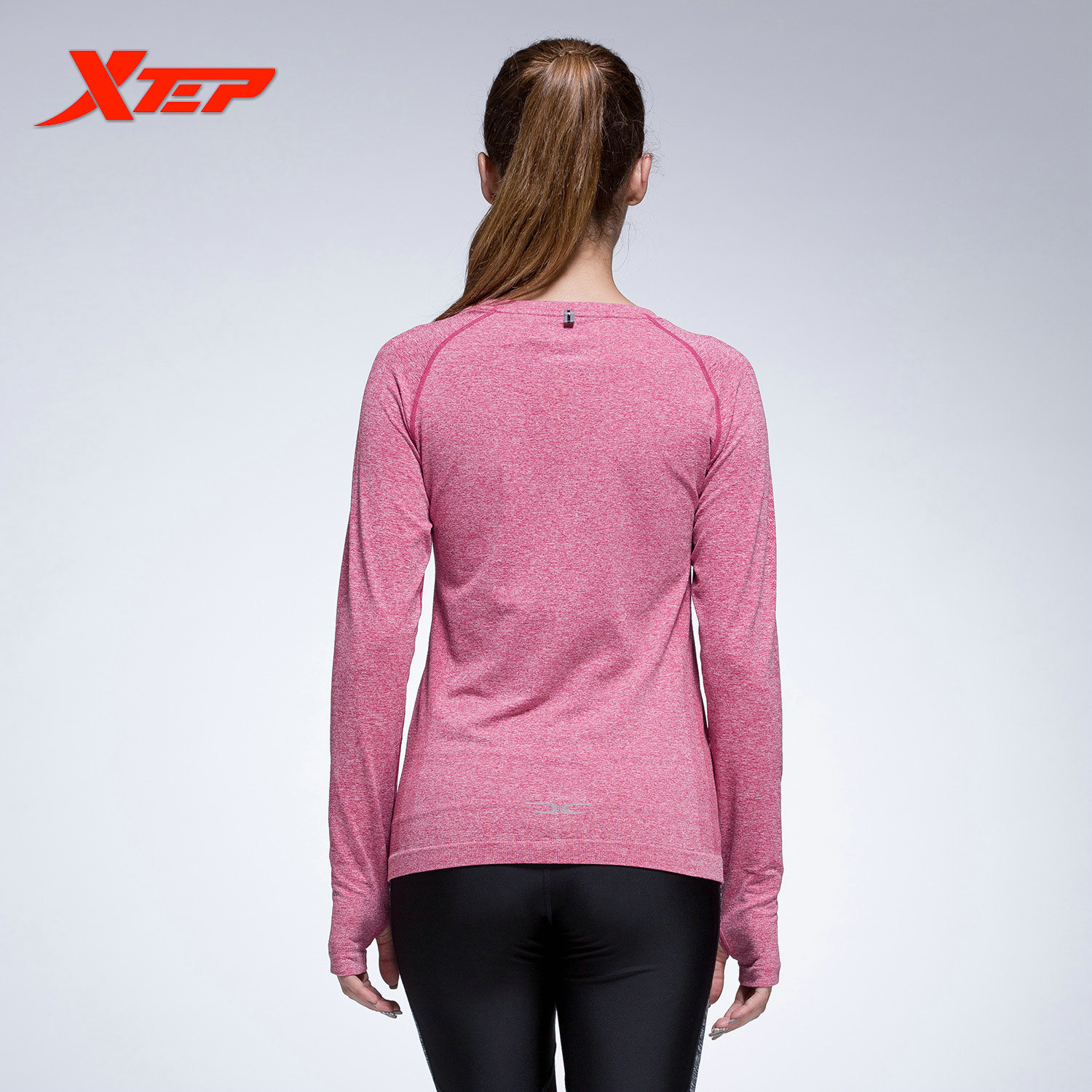 XTEP Women's Long Sleeve Running Shirts Tops Compression Tights Yoga Shirts Sportswear Fitness Workout Quick Dry ...