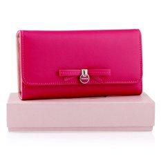 Yadas Cute Ribbon Dompet Wanita Lipat 3 - Pink Tua