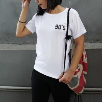 Jclothes Kaos Cewe Tumblr Tee Kaos Wanita Never Look Back Hitam Source · YGTSHIRT T shirt