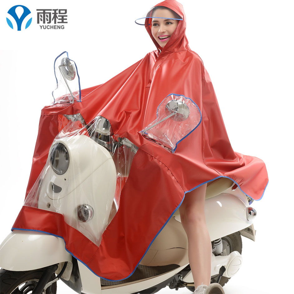 Flash Sale Yucheng Shishang penuh besar lagi tebal ponco sepeda motor jas hujan (Oxford tebal