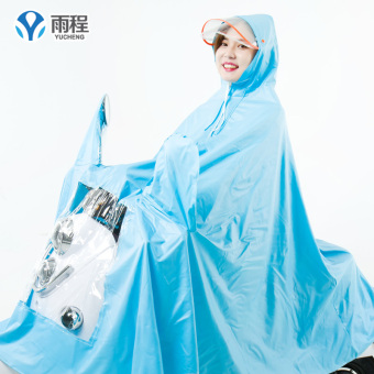 Anggaran Terbaik Yucheng Shishang warna solid tebal aki mobil jas hujan ponco (Warna solid-