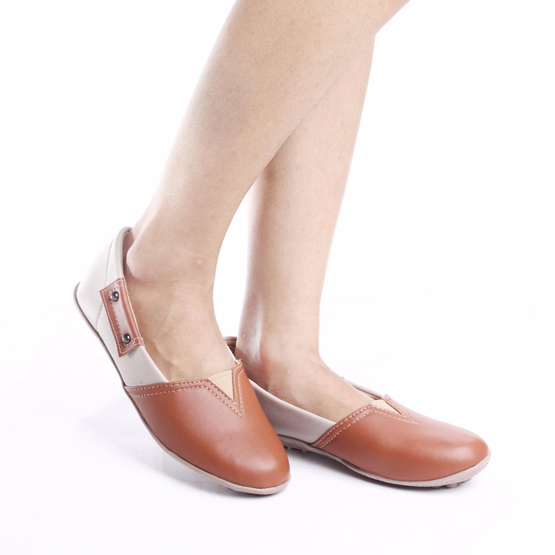 ... Yutaka Flat Shoes N43 - Cokelat ...