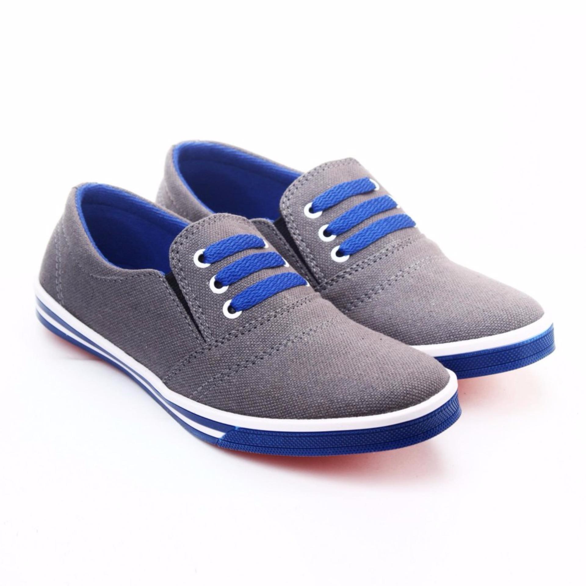 Cocok digunakan sehari-hari Yutaka Sepatu Kets Sneakers Abu-abu - Biru
