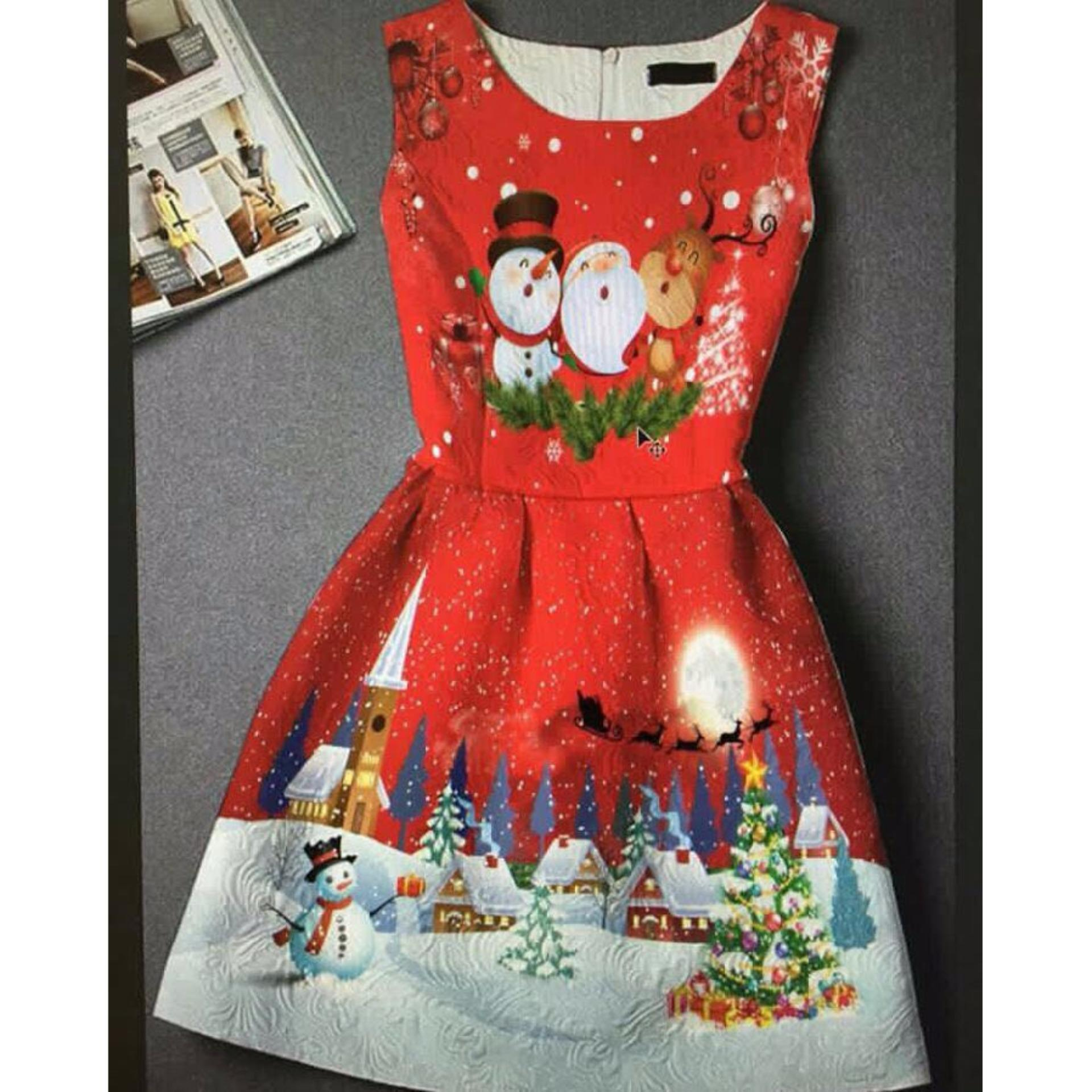 Yutan Dress Anak IMPORT Santa umur 2- 5 tahun / Baju Anak / Dress Import / Dress Natal