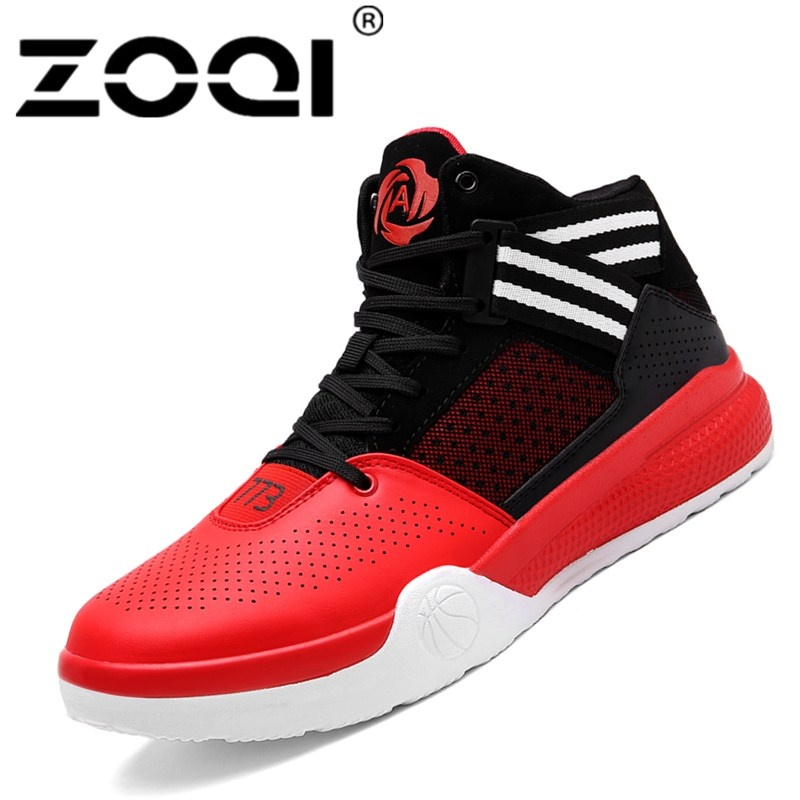 ZOQI Men And Women Basketball Shoes Male Ankle Boots Anti-slip Outdoor ... 69e97be3b5