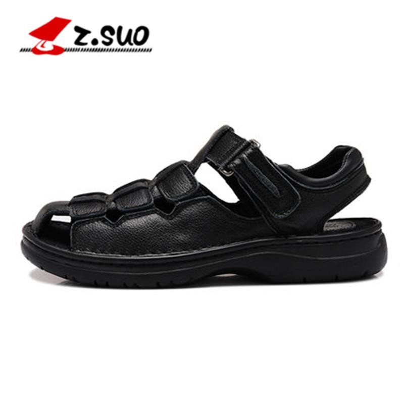 Flash Sale Z.Suo tren laki-laki musim panas sandal dan sandal sepatu pria (ZS802  hitam) 545860d7eb