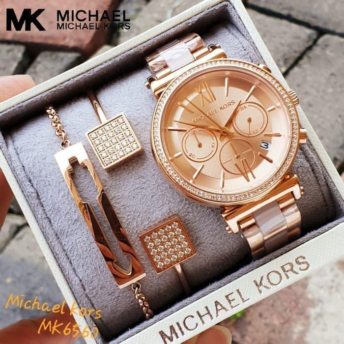 Jam Tangan Wanita Michael Kors Original Type: MK 6560 + Bonus Gelang Original Jam Tangan Wanita Jam Berkualitas Jam Trendy Jam Termurah Jam